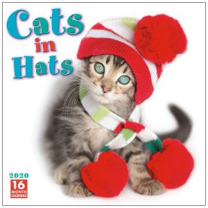 Cats in Hats 2020 Wall Calendar