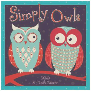 Simply Owls 2020 Wall Calendar