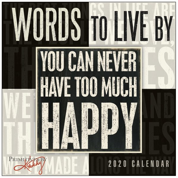 Words to Live By 2020 Mini Calendar