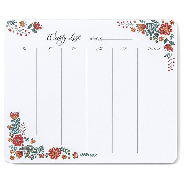 Dinara's Folk Floral Weekly To-Do Pad