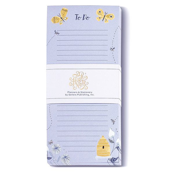 Garden Bee & Butterfly Vertical List Pad